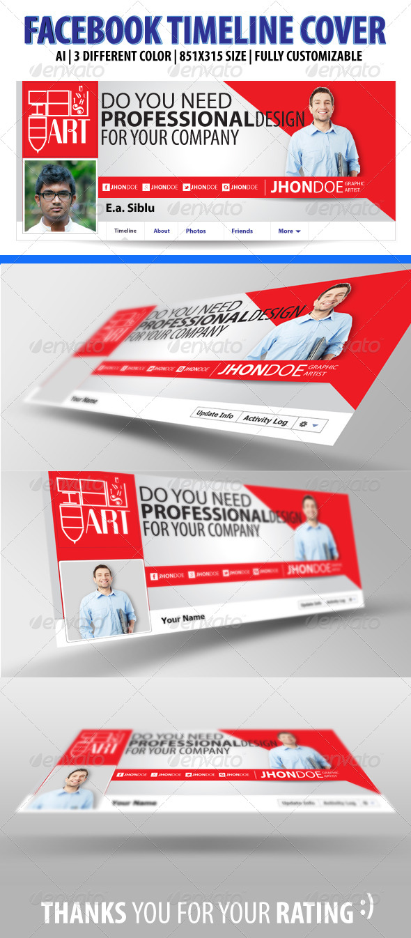 GraphicRiver Facebook Timeline Cover 6327739