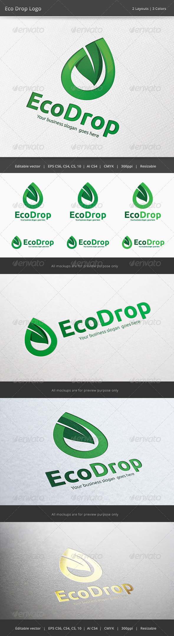 GraphicRiver Eco Energy Drop 6327916