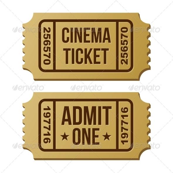 GraphicRiver Retro Cinema Ticket 6328347