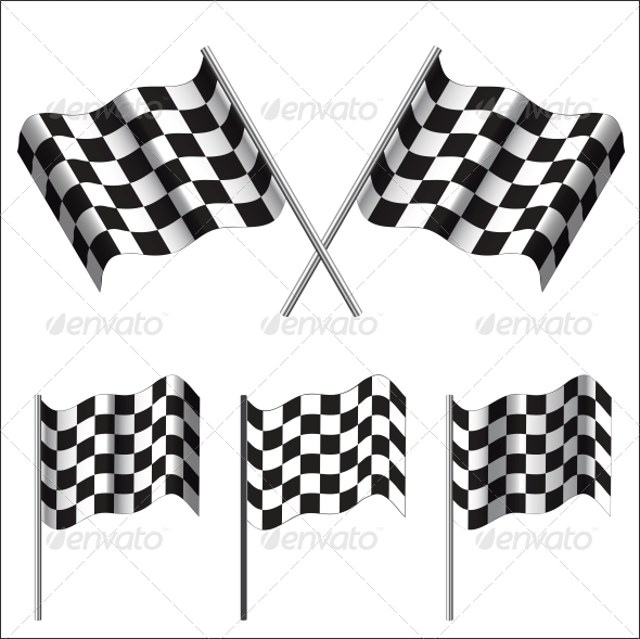 GraphicRiver Checkered Flags racing Vector 6328505