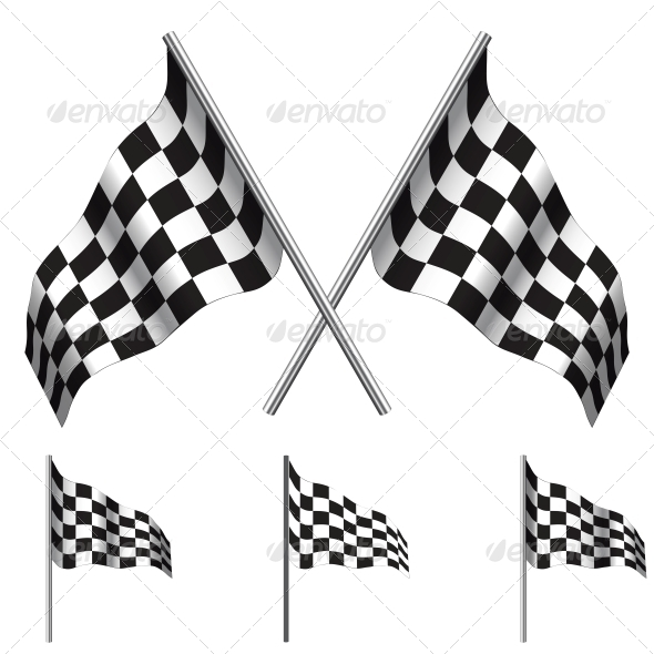 GraphicRiver Checkered Flags racing Vector 6328506