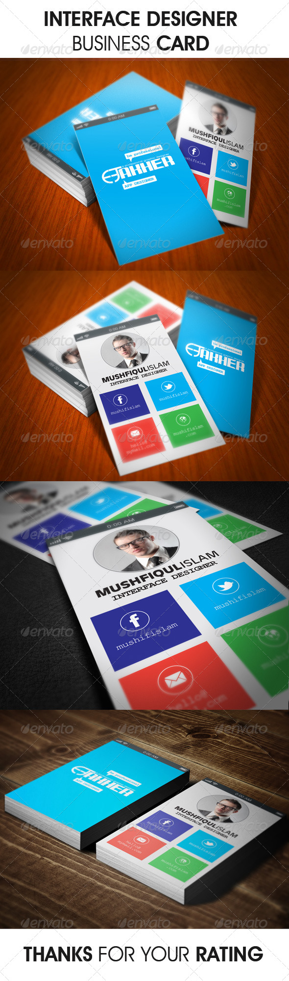 GraphicRiver Interface Designer Business Card 6232973