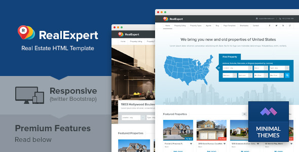 ThemeForest Real Expert Responsive Real Estate HTML Template 6258353