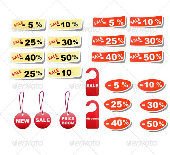 GraphicRiver Set Sale Tags 6328588