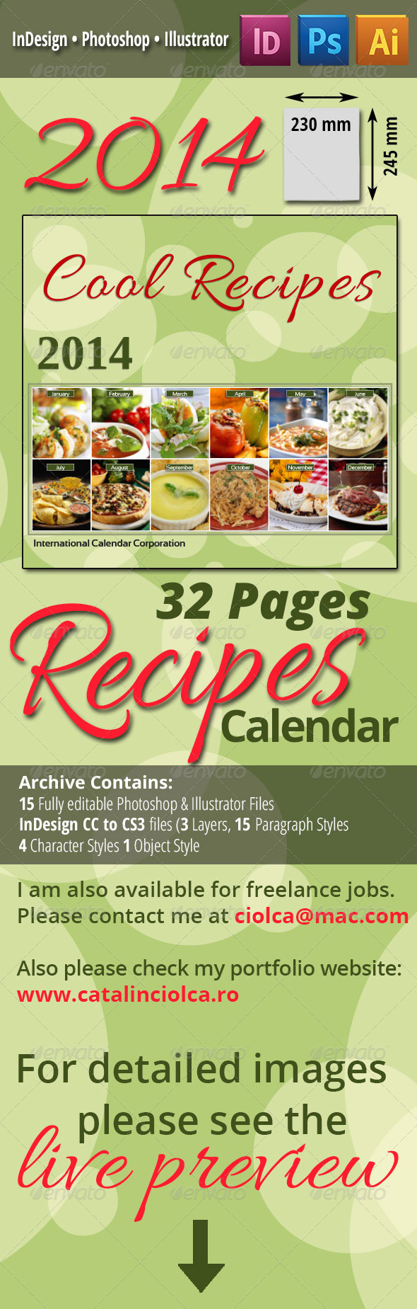 2014 Recipes Calendar