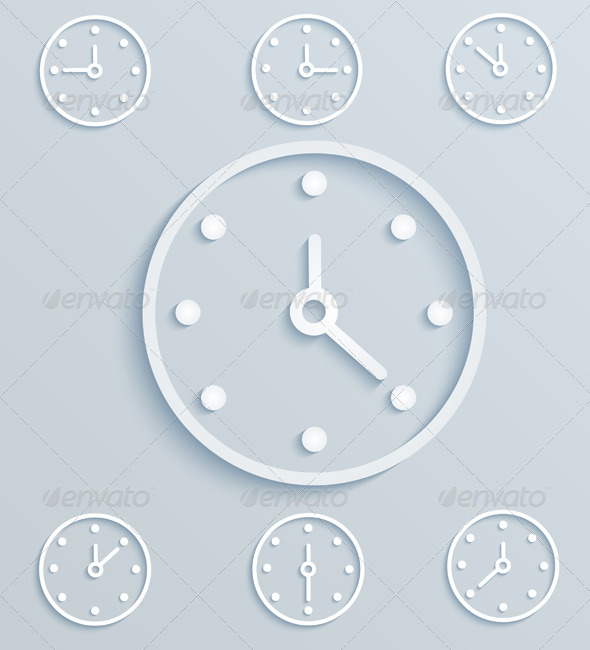 GraphicRiver Paper Clock 6328696