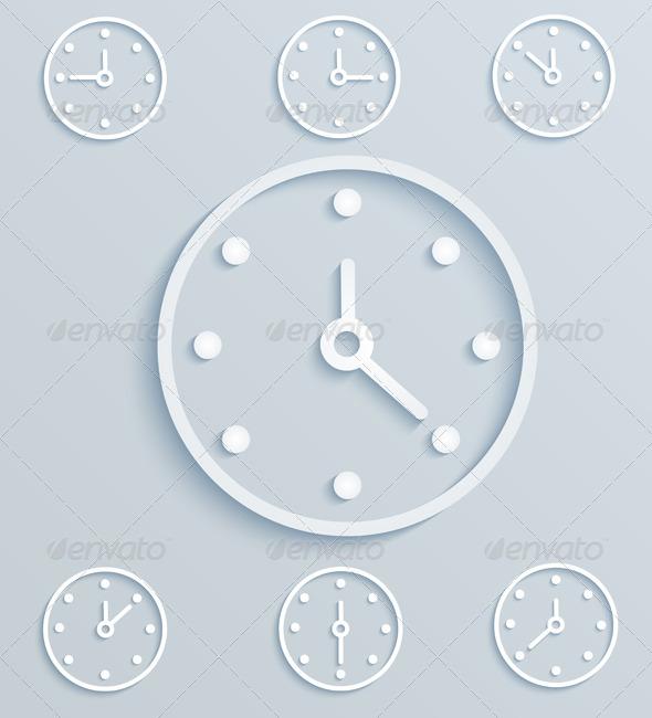 GraphicRiver Paper Clock 6328696