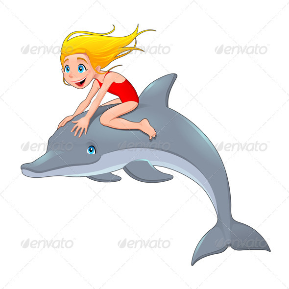 GraphicRiver Girl and the Dolphin 6328725
