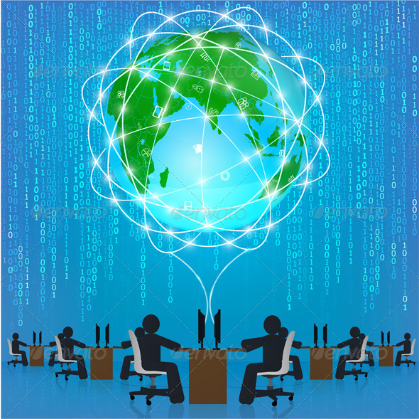 GraphicRiver Global Network Connection 6328771