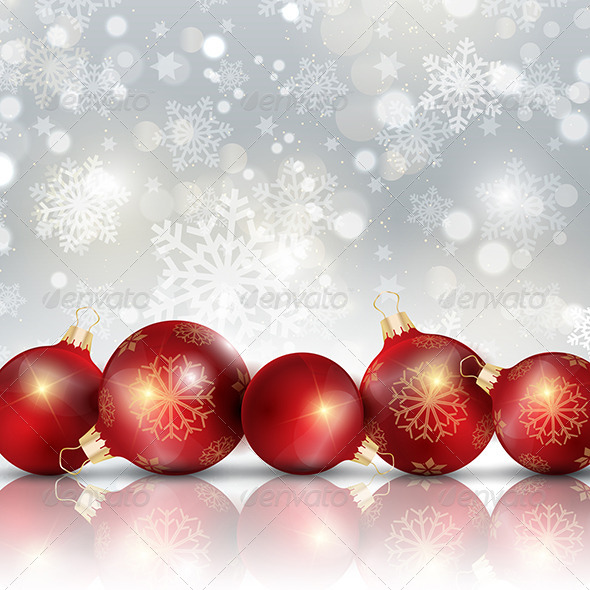 GraphicRiver Christmas Baubles Background 6328778