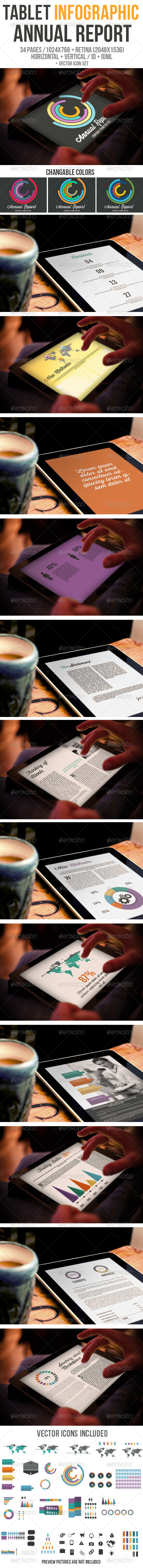 GraphicRiver Tablet Infographic Annual Report 6328878
