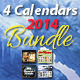 4 Calendars Bundle - GraphicRiver Item for Sale