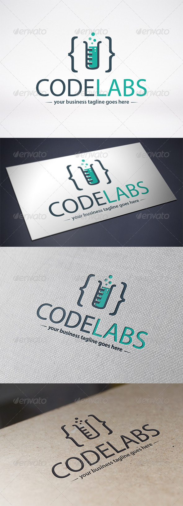 GraphicRiver Code Lab Logo Template 6328940