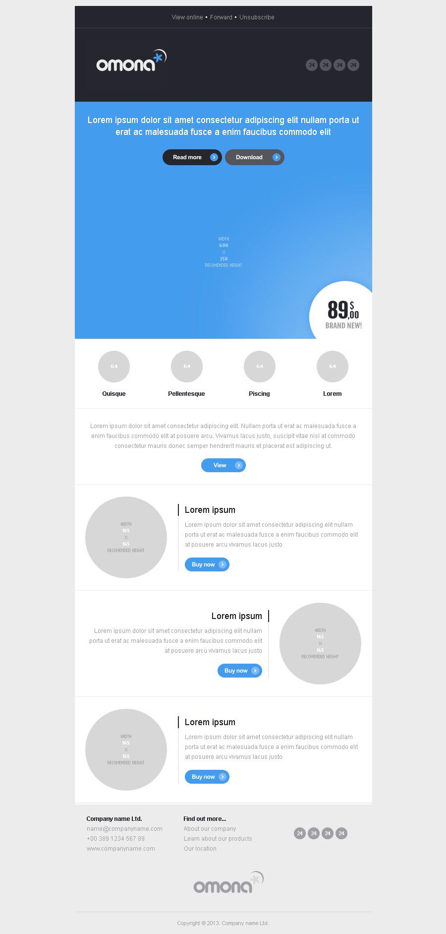 OMONA - 10 responsive e-mail templates