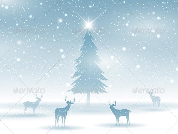 GraphicRiver Christmas Winter Landscape 6328967