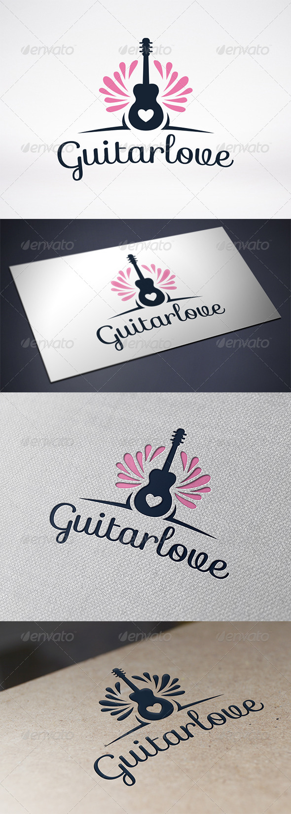GraphicRiver Guitar Love Logo Template 6328975
