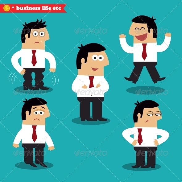 GraphicRiver Office Emotions in Poses 6329097