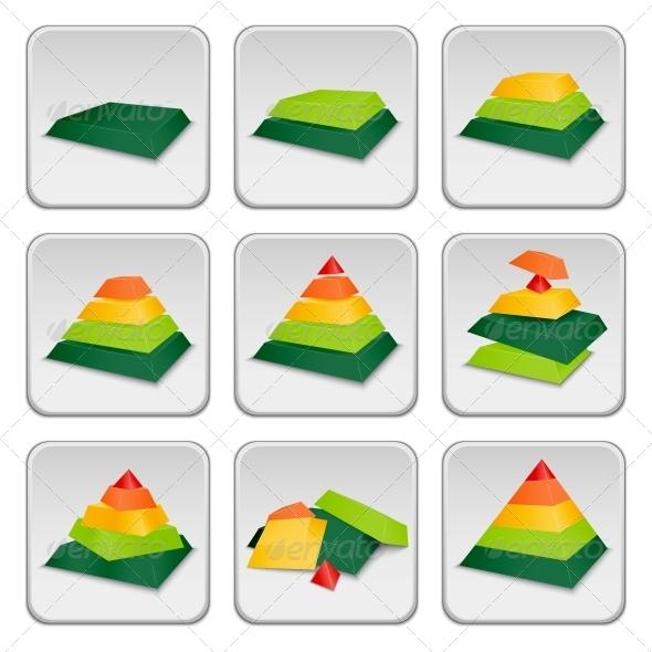 GraphicRiver Pyramid Status Indicator Icons 6329115