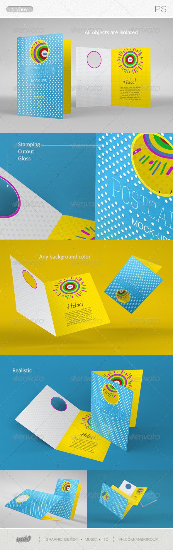 GraphicRiver Postcards Mock-ups 2 6329127