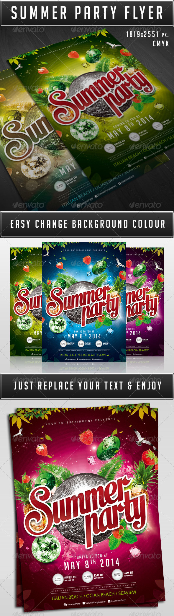GraphicRiver Summer party flyer 6278414