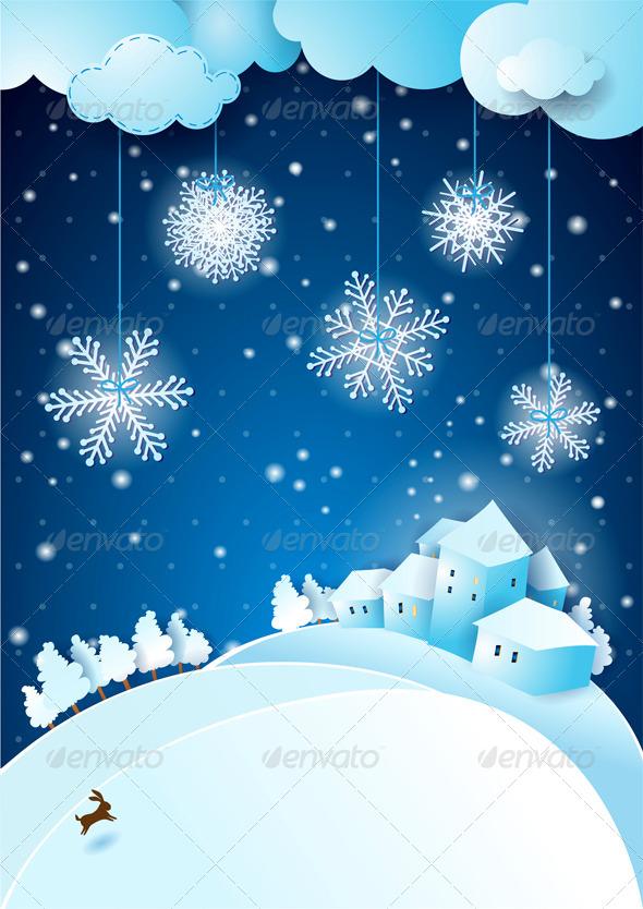 GraphicRiver Christmas Eve with Snowfall 6329213