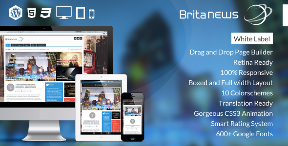 ThemeForest BritaNews Gorgeous Animated News Magazine Theme 6248575