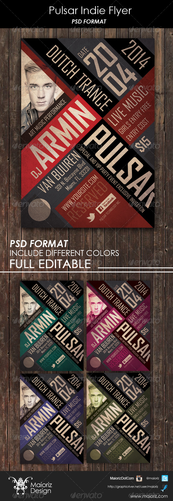 GraphicRiver Pulsar Indie Flyer 6329289
