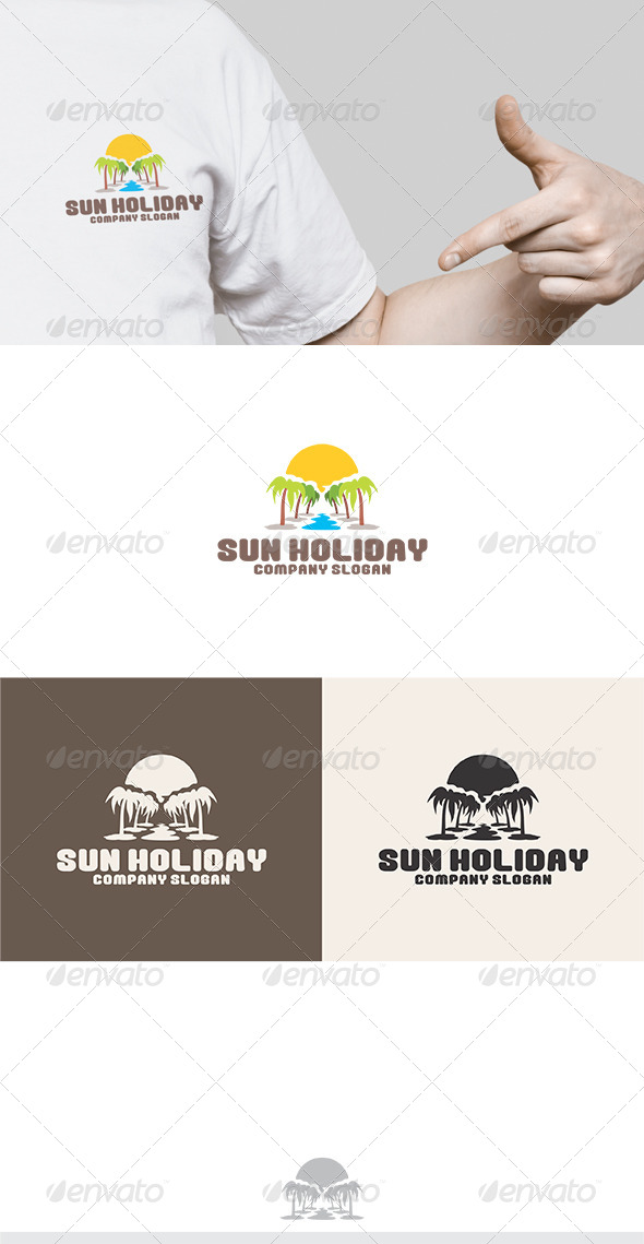 Sun Holiday Logo - Nature Logo Templates