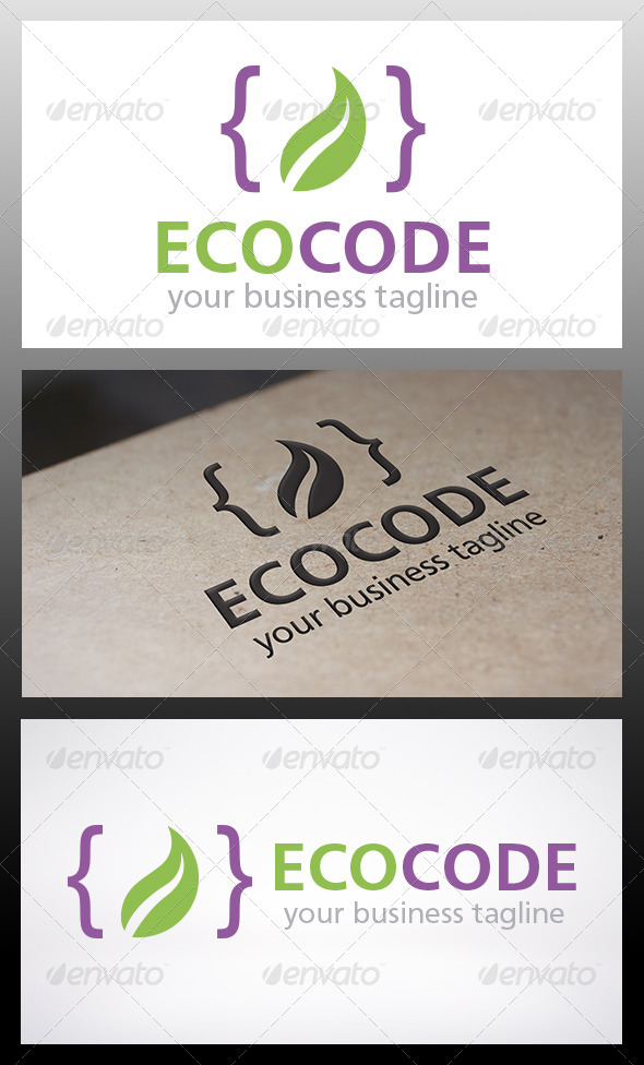 GraphicRiver Eco Code Logo 6329305