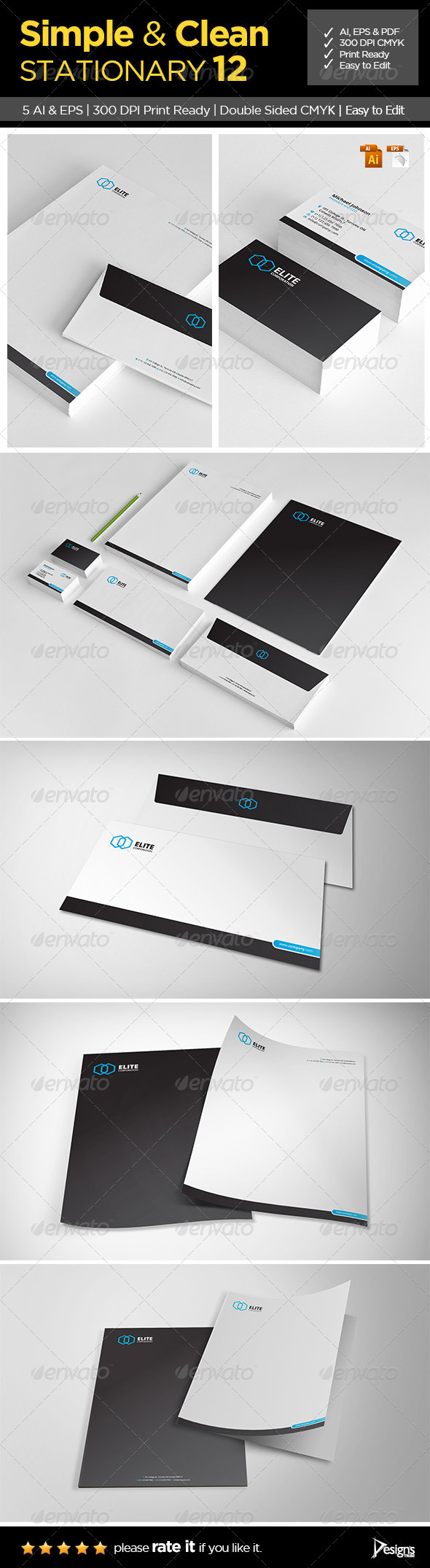 GraphicRiver Simple and Clean Stationary 12 6329384