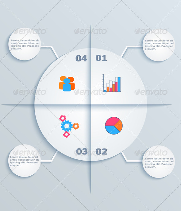 GraphicRiver Business Infographics Circles with Flat Icons 6329417