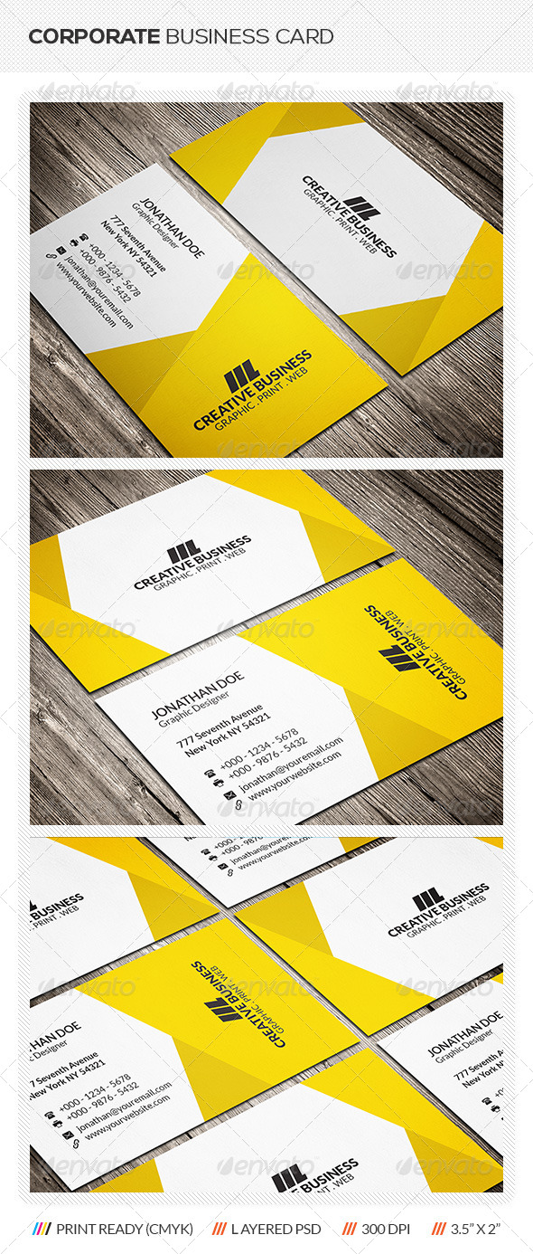 GraphicRiver Modern Corporate Business Card 6329437