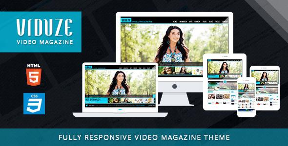 ThemeForest Viduze Video Magazine HTML Template 6192506