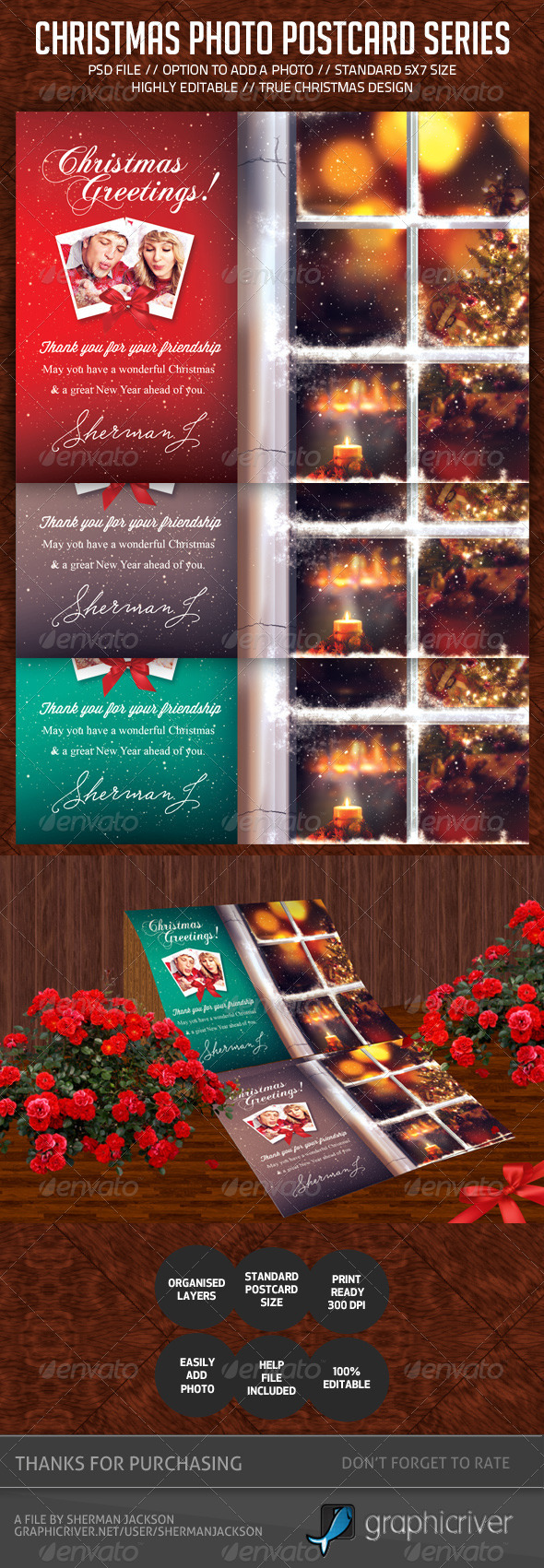 GraphicRiver Christmas Postcard V.2 6329695