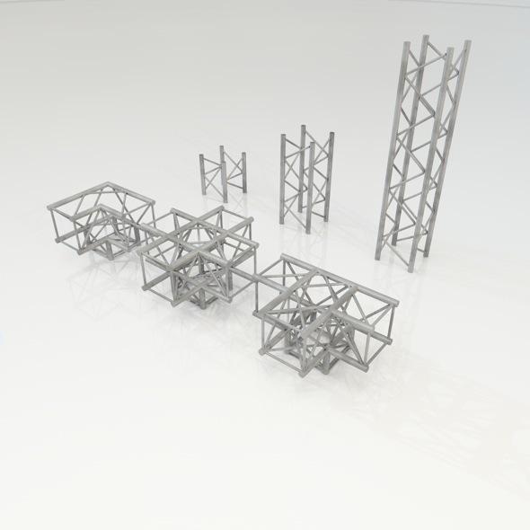 3DOcean Truss Construction set 6329729