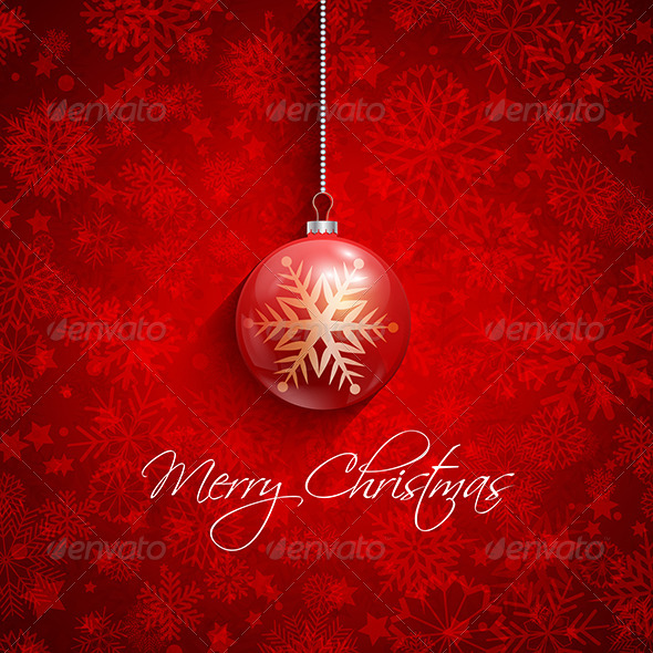GraphicRiver Christmas Baubles Background 6329763