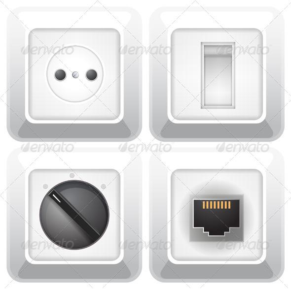 GraphicRiver Electric Socket Set 6329831