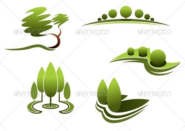 GraphicRiver Landscape Design Elements 6329838