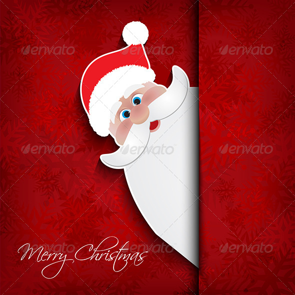 GraphicRiver Christmas Santa Background 6329875