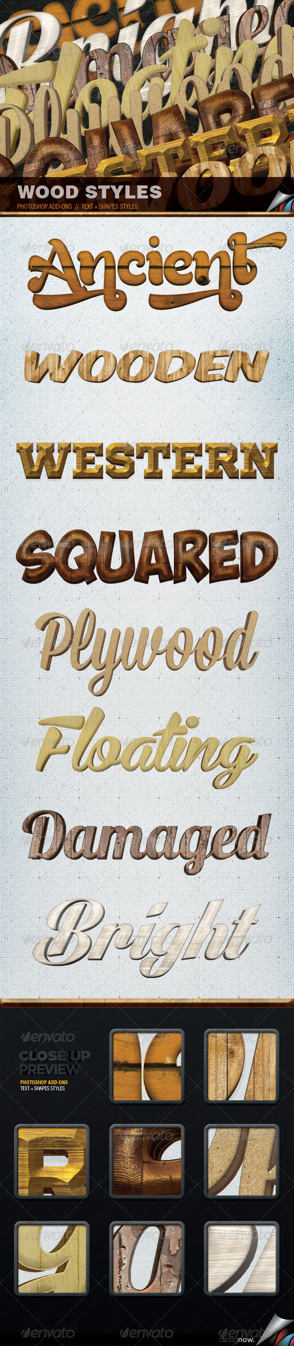 Magik Wood Styles - Text Effects Styles