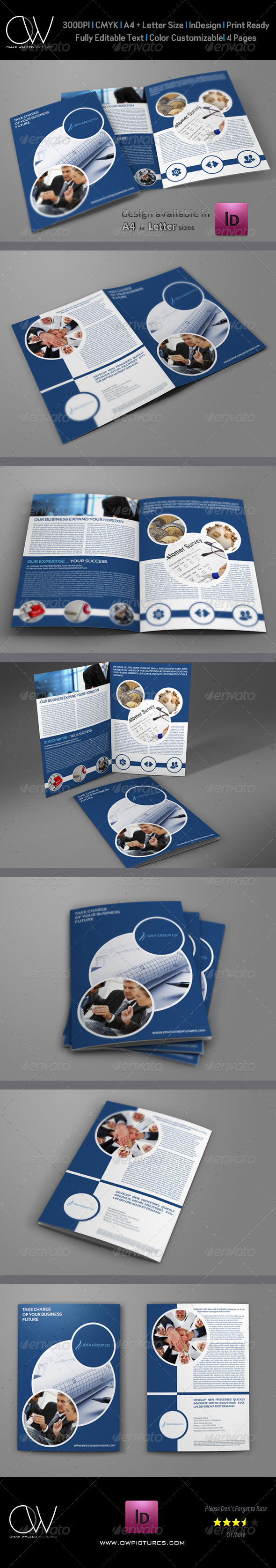 GraphicRiver Company Brochure Bi-Fold Template Vol.10 6329916