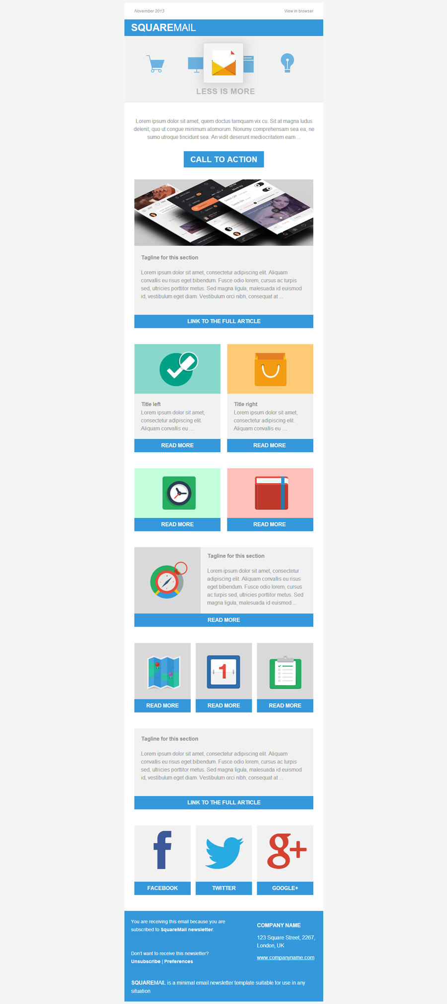 SquareMail Email Template