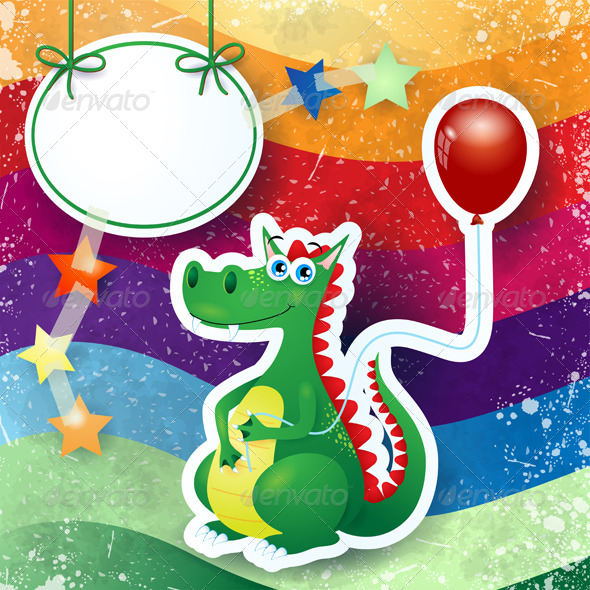 GraphicRiver Dragon and Balloon 6329928