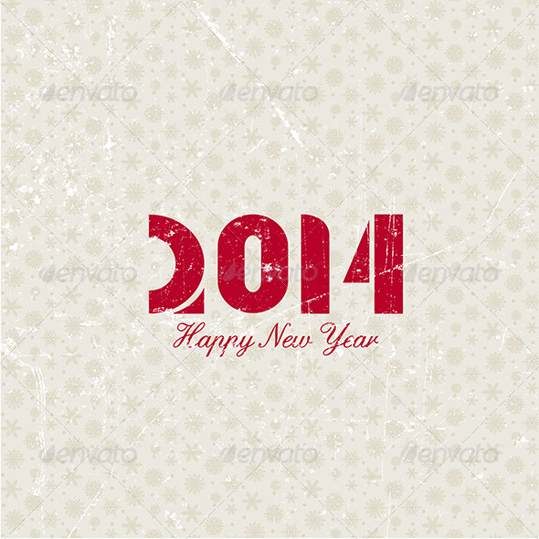 GraphicRiver Grunge New Year Background 6330520