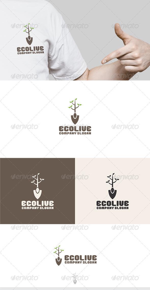 GraphicRiver Eco Live Logo 6330530