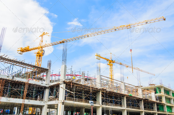 Construction crane - Stock Photo - Images