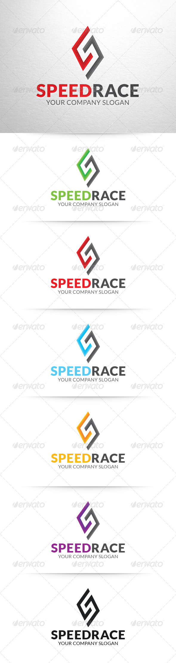 Speed Race Letter S Logo Template