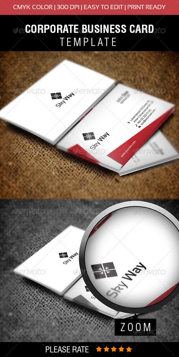 GraphicRiver Sky Way Business Card 6286765