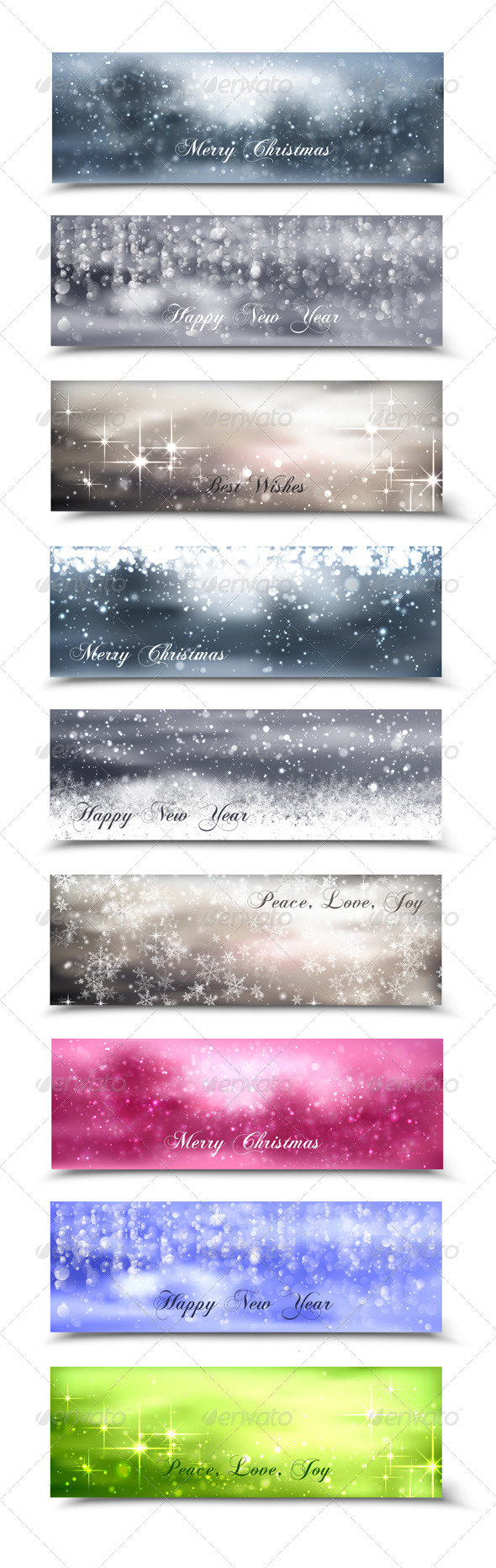 GraphicRiver Christmas Banners 6331088