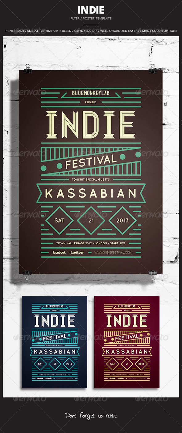 GraphicRiver Indie Flyer Poster 14 6331093